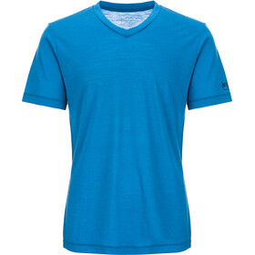 super.natural Base V Neck Tee 140 Homme, vallarta blue/navy blazer